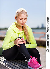 mujer, deportes, Aire libre