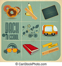Back to School Retro Vintage Card - Retro Card - Back to...