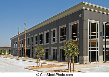 New Industrial Construction - A new building under...