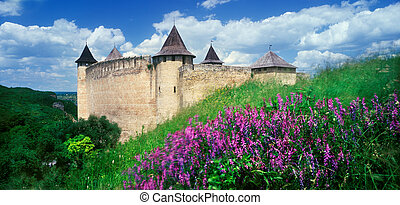 Fortress Khotyn - Ancient fortress in Khotyn-majestic...