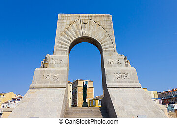 Historic War Monument in Marseilles, south of France