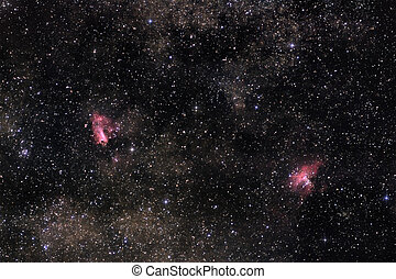 Nebulae of Milky Way - Astronomical photograph of rich star...