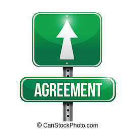 agreement road sign illustrations design over white