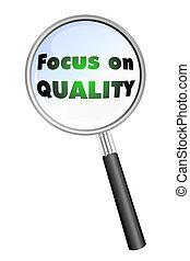 Focus on QUALITY icon