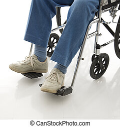 Man a wheelchair.