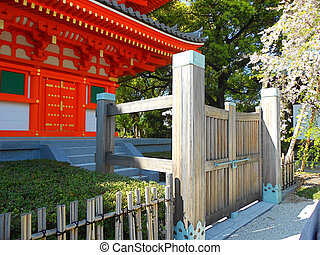 Gate to Buddist Temple in Japan - Gate to Buddist Temple in...