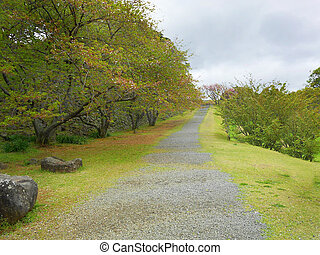 Pathway through hill in Saga Japan.