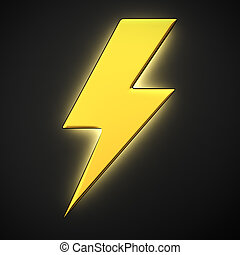 Luminous lightning - Lightning symbol with backlight effect...