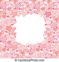 Valentine's Day Frame With Hearts Seamless Pattern