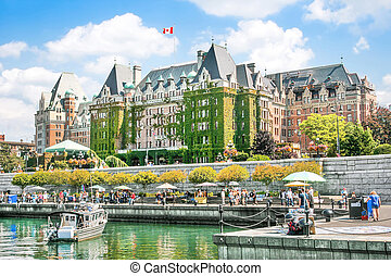 Beautiful view of Inner Harbour of Victoria, B.C., Canada