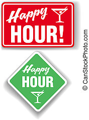 Happy Hour Cocktail bar signs - Signs for cocktails beer...