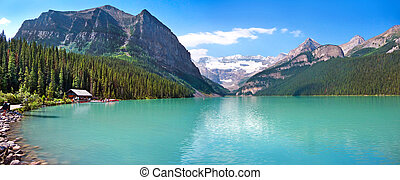 Lake Louise in Alberta, Canada - Lake Louise mountain lake...