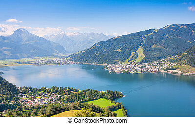 Zell am See, Austria - Beautiful landscape with Alps and...