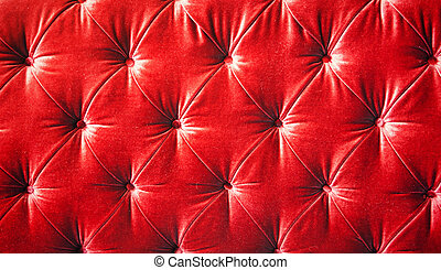 Vintage red padding cushion texture