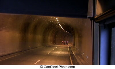Driving in the tunnel - Driving in the tunnel with lights...