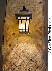 Craftsman Style Exterior Lamp On Exterior Wall