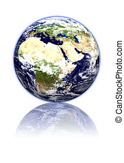 World globe - 3d Earth planet on white background. Special...