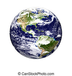 World globe - Color image of earth. Special thanks to NASA...