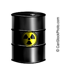 nuclear drum - barrel of radioactive waste