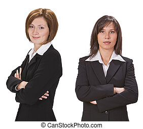 Businesswomen - Portrait of two confident businesswomen...