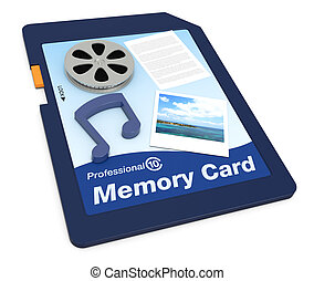 multimedia data on a memory card