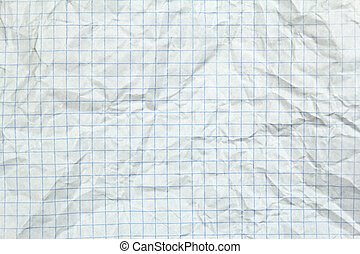 crumpled squared paper background