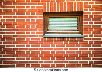 redbrick wall with window - redbrick wall with small...