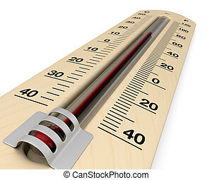 analog thermometer - close up view of an analog thermometer...