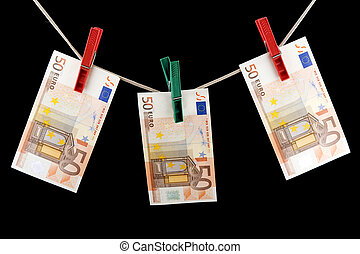 paper currency - object on black - currency paper money