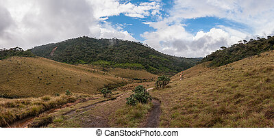 Horton Plains - Panorama of Horton Plains in Sri Lanka