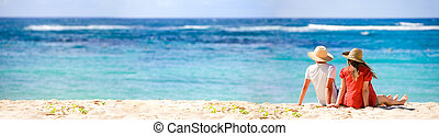 Honeymooners - Panoramic photo of romantic couple in...
