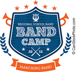 Band camp emblem - Band camp marching drum corp emblem badge