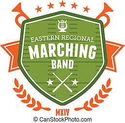 Marching band emblem - Marching band drum corp emblem badge...