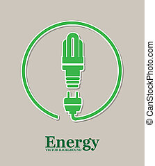 energy design over gray background vector illustration