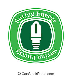 saving energy over white background vector illustration