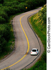 Driving on curved road