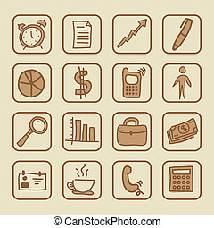 social icons over cream background vector illustration