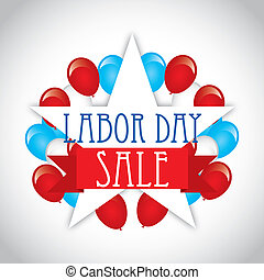 labor day over gray background vector illustration