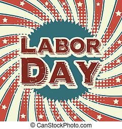 labor day design over grunge background vector illustration