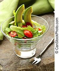 salada, abacate