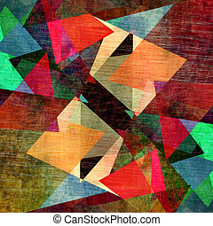 abstract geometric pattern - unusual bright colorful...