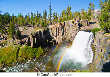 Rainbow Falls at Devil's Postpile National Monument in...