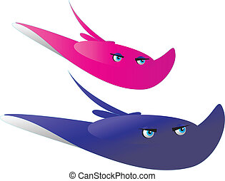 illustration of stingray swimming