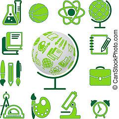 education school symbol vector collection