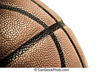 Basketball - An isolated shot of a leather basketball