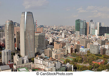 Tokyo - Multi story buildings in Tokyo city.