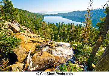 Fallen Leaf Lake with Lake Tahoe in the background