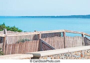 wicker palisade in Stintino, Sardinia