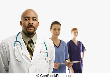 Medical healthcare workers. - Portrait of African-American...