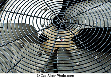 Air condition compressor fan. - Air condition compressor fan...